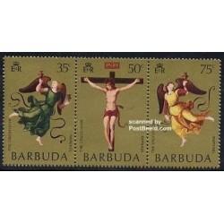 3 عدد تمبر  عید پاک - باربودا 1971