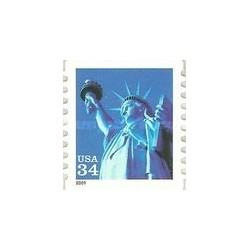 1 عدد تمبر مجسمه آزادی - خود چسب - آمریکا 2001