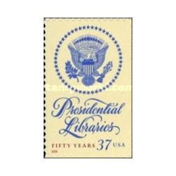 1 عدد تمبر کتابخانه ریاست جمهوری - خود چسب - آمریکا 2005