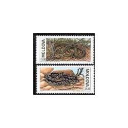 2 عدد تمبر مارها - مولداوی 1993