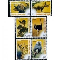 6 عدد تمبر باغ وحش ملی - کوبا 2009