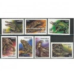 7 عدد تمبر خزندگان - تانزانیا 1993