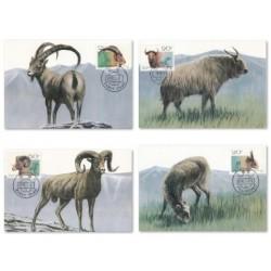 4 عدد ماکزیمم کارت حیوانات - چین1991