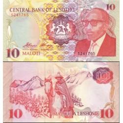 اسکناس 10 مالوتی - لسوتو 1990