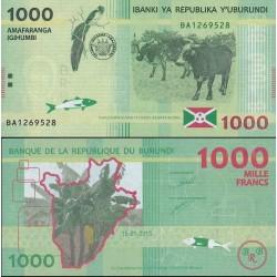 اسکناس 1000 فرانک - بروندی 2015