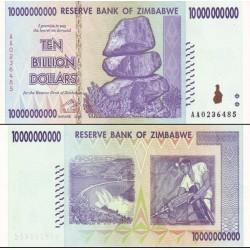 اسکناس 10 میلیارد دلار- 10000000000 دلار - زیمباوه 2008 - 95%