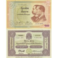 اسکناس 100 بات - تایلند 2002