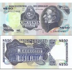 اسکناس 50 پزو - اورگوئه 1989 سری G