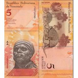 اسکناس 5 بولیوار - ونزوئلا 2011