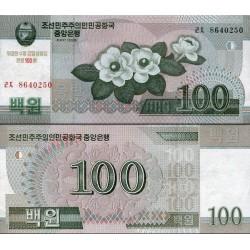اسکناس 100  وون - کره شمالی 2008