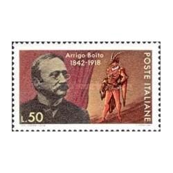 1 عدد تمبر یادبود آریگو بویتو - شاعر ، روزنامه نگار و رمان نویس - ایتالیا 1968