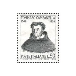 1 عدد تمبر یادبود کامپانلا - کشیش ،فیلسوف ،ستاره شناس و شاعر - ایتالیا 1968