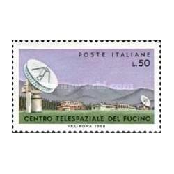 1 عدد تمبر گسترش مرکز ارتباطات فضائی در فوکینو - ایتالیا 1968