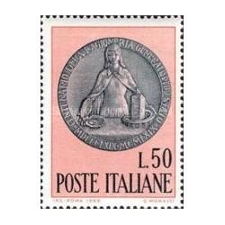1 عدد تمبر صدمین سال دیوان حسابرسی دولتی - ایتالیا 1969