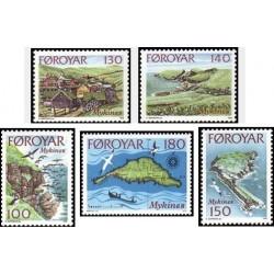 5 عدد تمبر جزیره مایکینز - جزائر فارو  1978