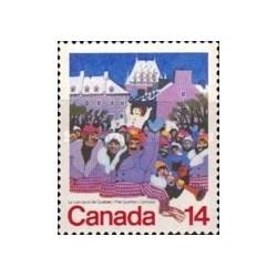 1 عدد تمبر کارناوال ایالت کبک - کانادا 1979