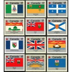 12 عدد تمبر روز کانادا - پرچمهای استانی و منطقه ای - کانادا 1979