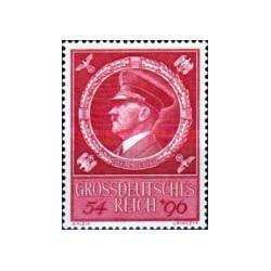 1 عدد تمبر پنجاه و پنجمین سالگرد تولد آدولف هیتلر - رایش آلمان 1944