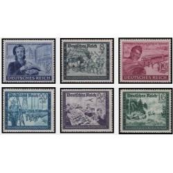 6 عدد تمبر خیریه - ارتباطات پستی - رایش آلمان 1944