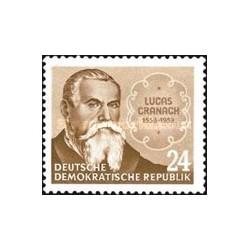 1 عدد تمبر یادبود 400مین سال درگذشت لوکاس کراناخ - نقاش دوره رنسانس - جمهوری دموکراتیک آلمان 1953