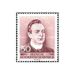 1 عدد تمبر  100مین سال تولد جاکوب بارت - شاعر - جمهوری دموکراتیک آلمان 1956 با شارنیه