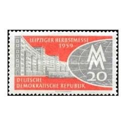 1 عدد تمبر نمایشگاه پائیزه لایپزیک - جمهوری دموکراتیک آلمان 1959