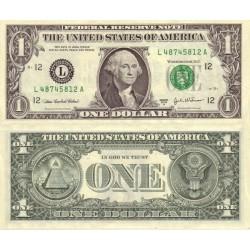 اسکناس 1 دلار - آمریکا 2003 سری L سان فرانسیسکو - امضا کابرال و اسنو