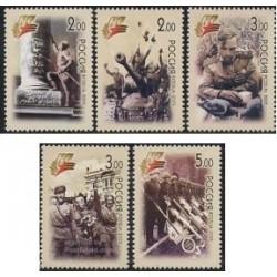 5 عدد تمبر 60مین سالگرد پیروزی در جنگ جهانی دوم - روسیه 2005
