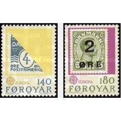 2 عدد تمبر مشترک اروپا - Europa Cept - تاریخچه پستی - جزایر فارو 1979