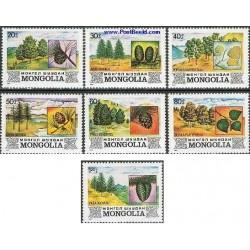 7 عدد تمبر درختان بومی - مغولستان 1982