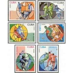 6 عدد تمبر جام جهانی فوتبال 82 اسپانیا - کوبا 1981