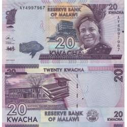اسکناس 20 کواچا - مالاوی 2015