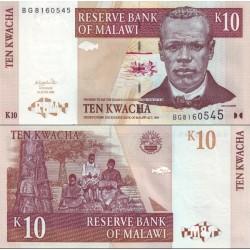 اسکناس 10 کواچا - مالاوی 2004