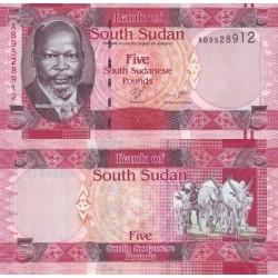 اسکناس 5 پوند - سودان جنوبی 2011