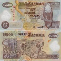 اسکناس پلیمر 500 کواچا - زامبیا 2011