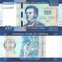 اسکناس 10 دلار - لیبریا 2016