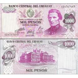 اسکناس 1000 پزو - اورگوئه 1974
