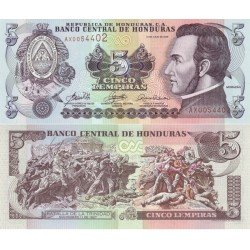 اسکناس 5 لمپیراس - هندوراس 2006