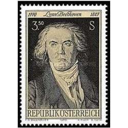 1 عدد تمبر 200مین سالگرد تولد لودویگ فان بتهوون - آهنگساز  - اتریش 1970