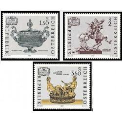 3 عدد تمبر گنجینه های هنری اتریش - اتریش 1971