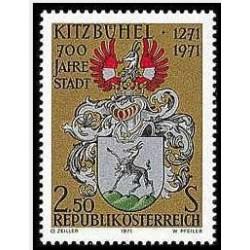 1 عدد تمبر 700 سالگی شهر کیتزبوهل - اتریش 1971