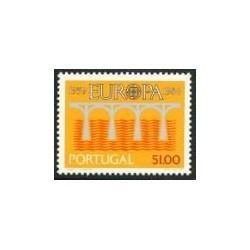 1 عدد تمبر مشترک اروپا - Europa Cept - پرتغال 1984