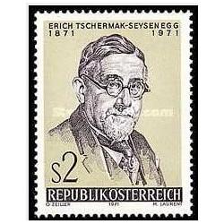 1 عدد تمبر صدمین سالگرد تولد دکتر اریش شرماک سی سنگز - تولید محصولات مقاوم در برابر بیماری - اتریش 1971