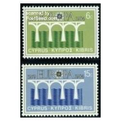 2 عدد تمبر مشترک اروپا - Europa Cept - قبرس 1984