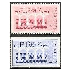 2 عدد تمبر مشترک اروپا - Europa Cept - سوئد 1984