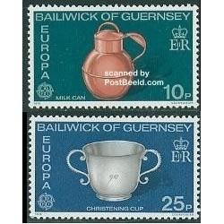 2 عدد تمبر مشترک اروپا - Europa Cept - گورنزی 1976