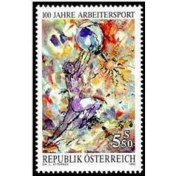 1 عدد تمبر صدمین سالگرد مسابقات ورزشی کارگران- اتریش 1992