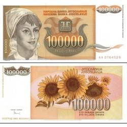 اسکناس 100000 دینار - یوگوسلاوی 1993