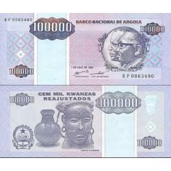 اسکناس 100000 کوانزاس - آنگولا 1995