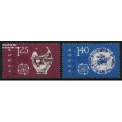 2 عدد تمبر مشترک اروپا - Europa Cept - نروژ  1976